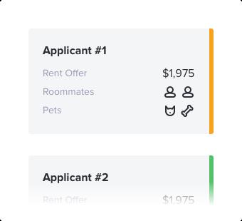 Apartment apply details