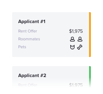 Apartment apply details